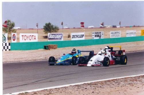 Racing at Willow Springs